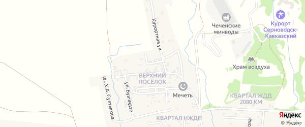 Подгорная улица на карте Серноводского села с номерами домов