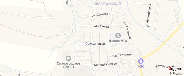 3-й Совхозный переулок на карте Серноводского села с номерами домов