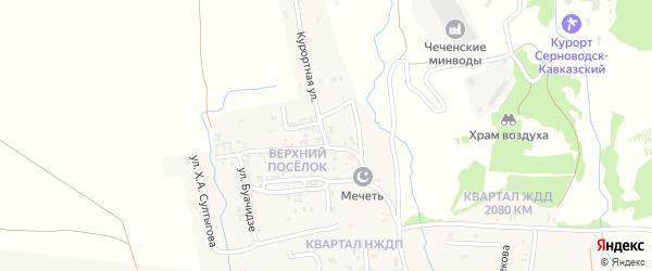 Курортная улица на карте Серноводского села с номерами домов