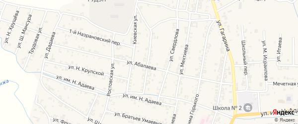 Улица Куйбышева на карте Серноводского села с номерами домов