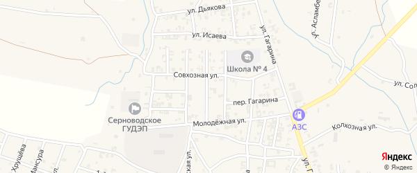 2-й Совхозный переулок на карте Серноводского села с номерами домов