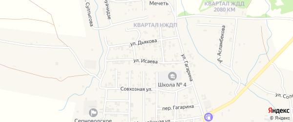 Улица Исаева на карте Серноводского села с номерами домов