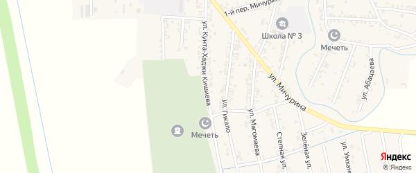 Октябрьская улица на карте Серноводского села с номерами домов