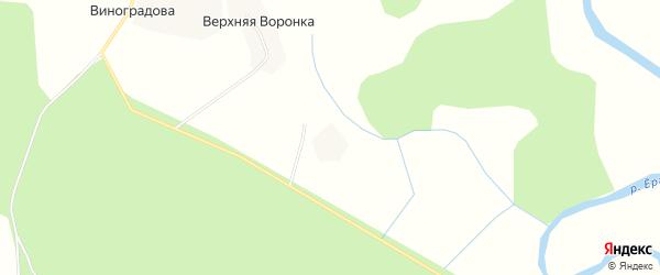 Карта деревни Верхней Воронки в Архангельской области с улицами и номерами домов