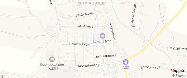 1-й Совхозный переулок на карте Серноводского села с номерами домов