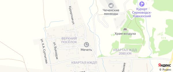 Восточная улица на карте Серноводского села с номерами домов