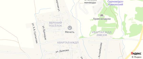Санаторная улица на карте Серноводского села с номерами домов