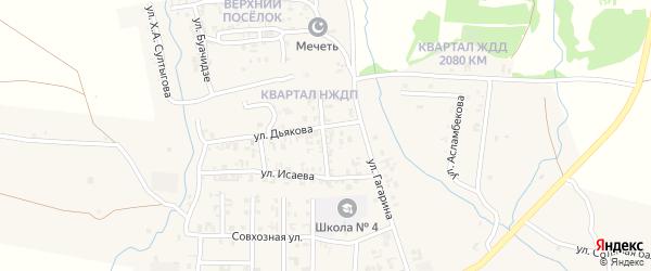 Улица Гоголя на карте Серноводского села с номерами домов