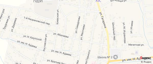 Улица Свердлова на карте Серноводского села с номерами домов