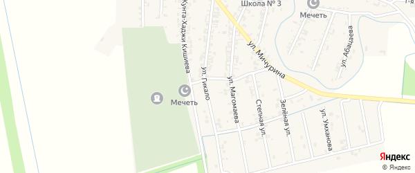Улица Гикало на карте Серноводского села с номерами домов
