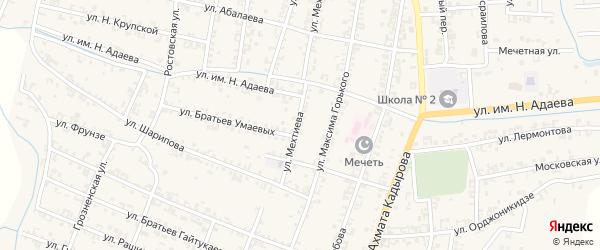Улица Мехтиева на карте Серноводского села с номерами домов
