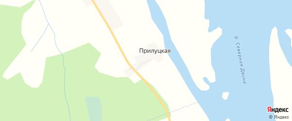 Карта Прилуцкой деревни в Архангельской области с улицами и номерами домов