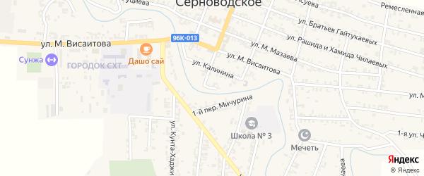 Улица Сунженский тупик на карте Серноводского села с номерами домов