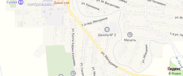 Улица Мичурина на карте Серноводского села с номерами домов