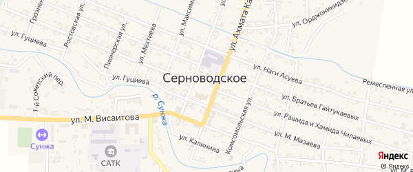 Улица А.Асаева на карте Серноводского села с номерами домов
