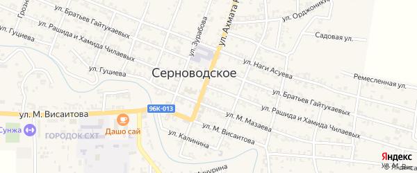 Улица Рашида и Хамида Чилаевых на карте Серноводского села с номерами домов