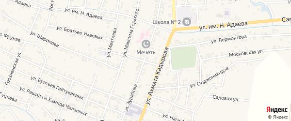 Улица Зурабова на карте Серноводского села с номерами домов