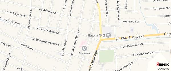 Больничная улица на карте Серноводского села с номерами домов