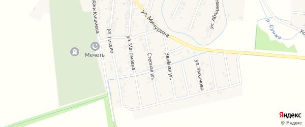 Степная улица на карте Серноводского села с номерами домов