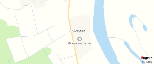 Карта Ляховской деревни в Архангельской области с улицами и номерами домов