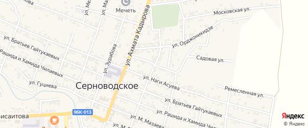 Ремесленная улица на карте Серноводского села с номерами домов