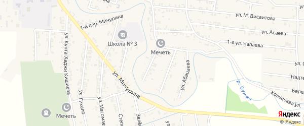 Улица Нурадилова на карте Серноводского села с номерами домов