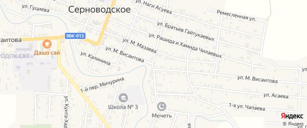 Улица М.Висаитова на карте поселка Гикало с номерами домов