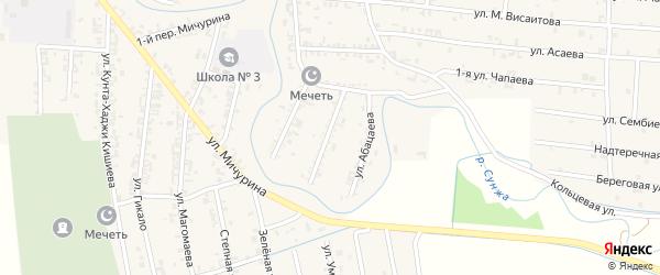Улица Зубайраева на карте Серноводского села с номерами домов