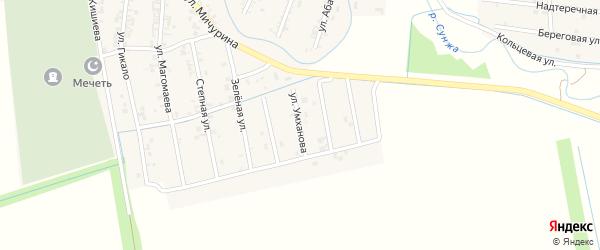 Улица Чилаева на карте Серноводского села с номерами домов