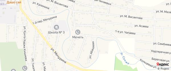 Улица Я.Джамурзаева на карте Серноводского села с номерами домов