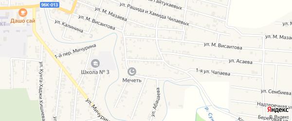 Улица 1-я Чапаева на карте Серноводского села с номерами домов