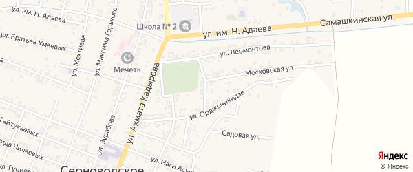 Переулок Орджоникидзе на карте Серноводского села с номерами домов