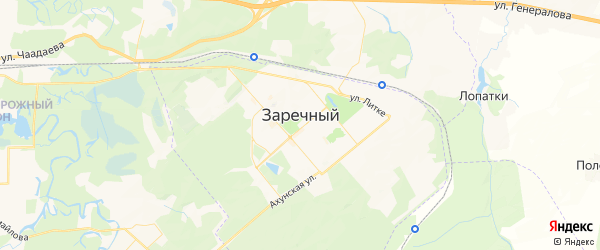 Карта Заречного с районами, улицами и номерами домов: Заречный на карте России