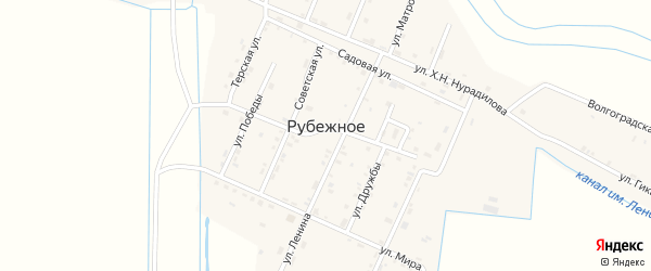 Улица А.Шерипова на карте Рубежного села с номерами домов