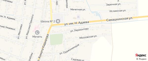 Улица Лермонтова на карте Серноводского села с номерами домов