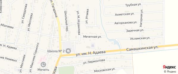 Мечетная улица на карте Серноводского села с номерами домов