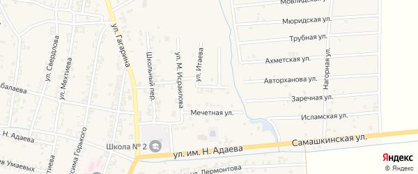 Улица В.Дагаева на карте Серноводского села с номерами домов
