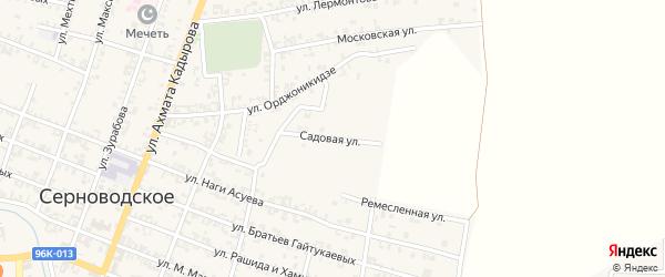 Садовая улица на карте Серноводского села с номерами домов