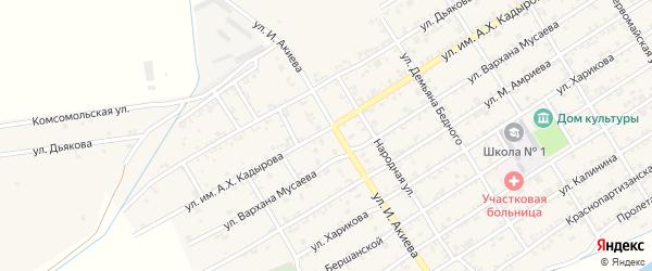 Улица Амриева М. на карте Ассиновской станицы с номерами домов