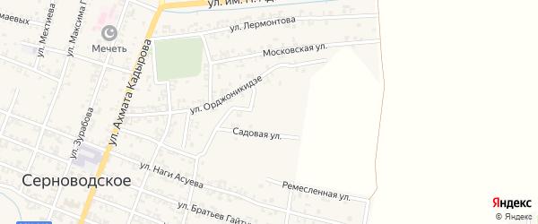 Садовый переулок на карте Серноводского села с номерами домов