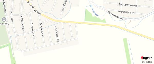 Вайнахская улица на карте Серноводского села с номерами домов