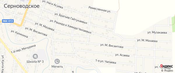 Улица Мазаева на карте Серноводского села с номерами домов