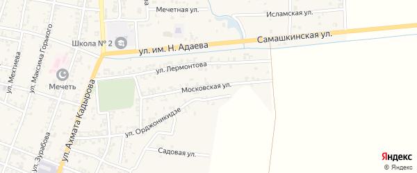 Московская улица на карте Серноводского села с номерами домов
