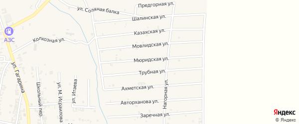 Шалинская улица на карте Серноводского села с номерами домов