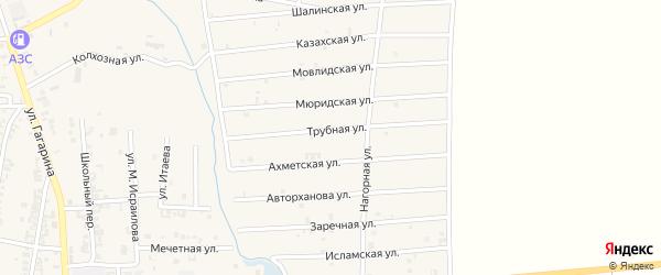 Казахская улица на карте Серноводского села с номерами домов