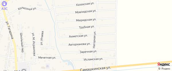 Мовлидская улица на карте Серноводского села с номерами домов