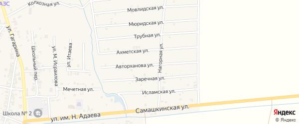Мюридская улица на карте Серноводского села с номерами домов