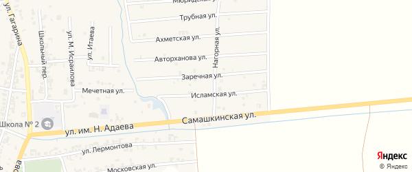 Ахметская улица на карте Серноводского села с номерами домов