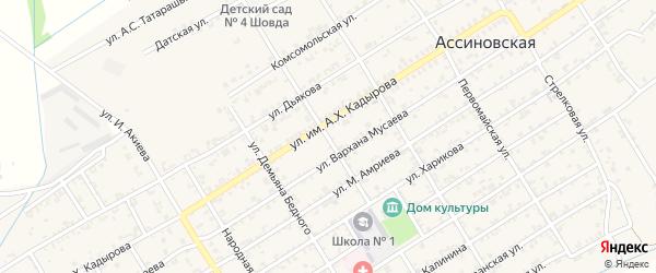 Улица П.Мусорова на карте Ассиновской станицы с номерами домов
