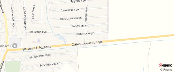 Улица Авторханова на карте Серноводского села с номерами домов